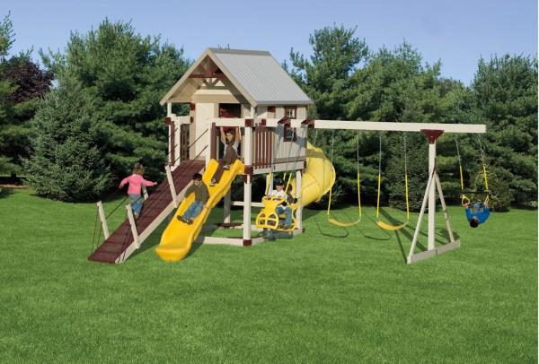 Plastic Outdoor Kids Swing Sets