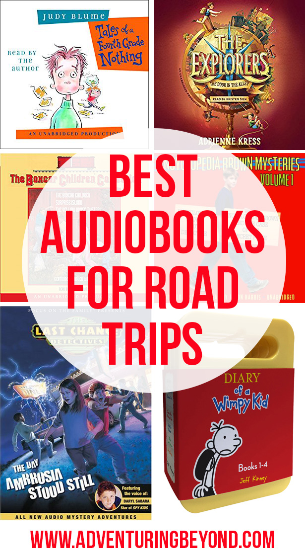 Best audiobooks for family road trips. www.adventuringbeyond.com
