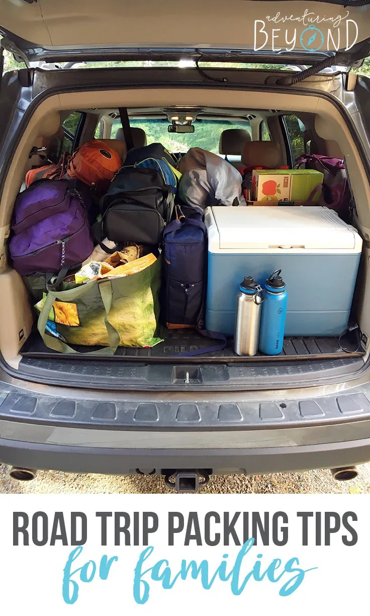 Road trip packing tips for families. 15+ things you don't want to leave home without. www.adventuringbeyond.com