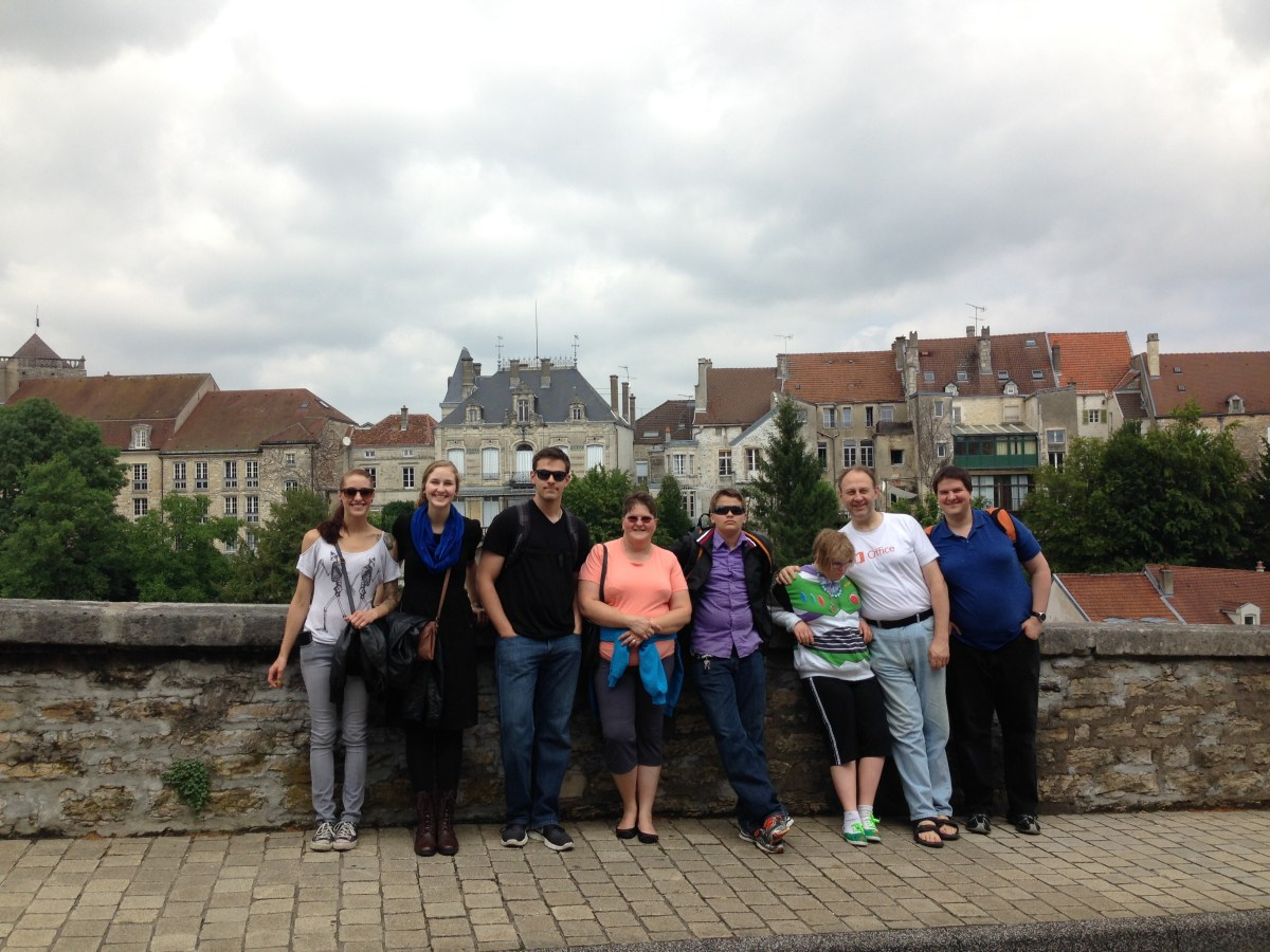 Family Photo in Downtown Chaumont, France
