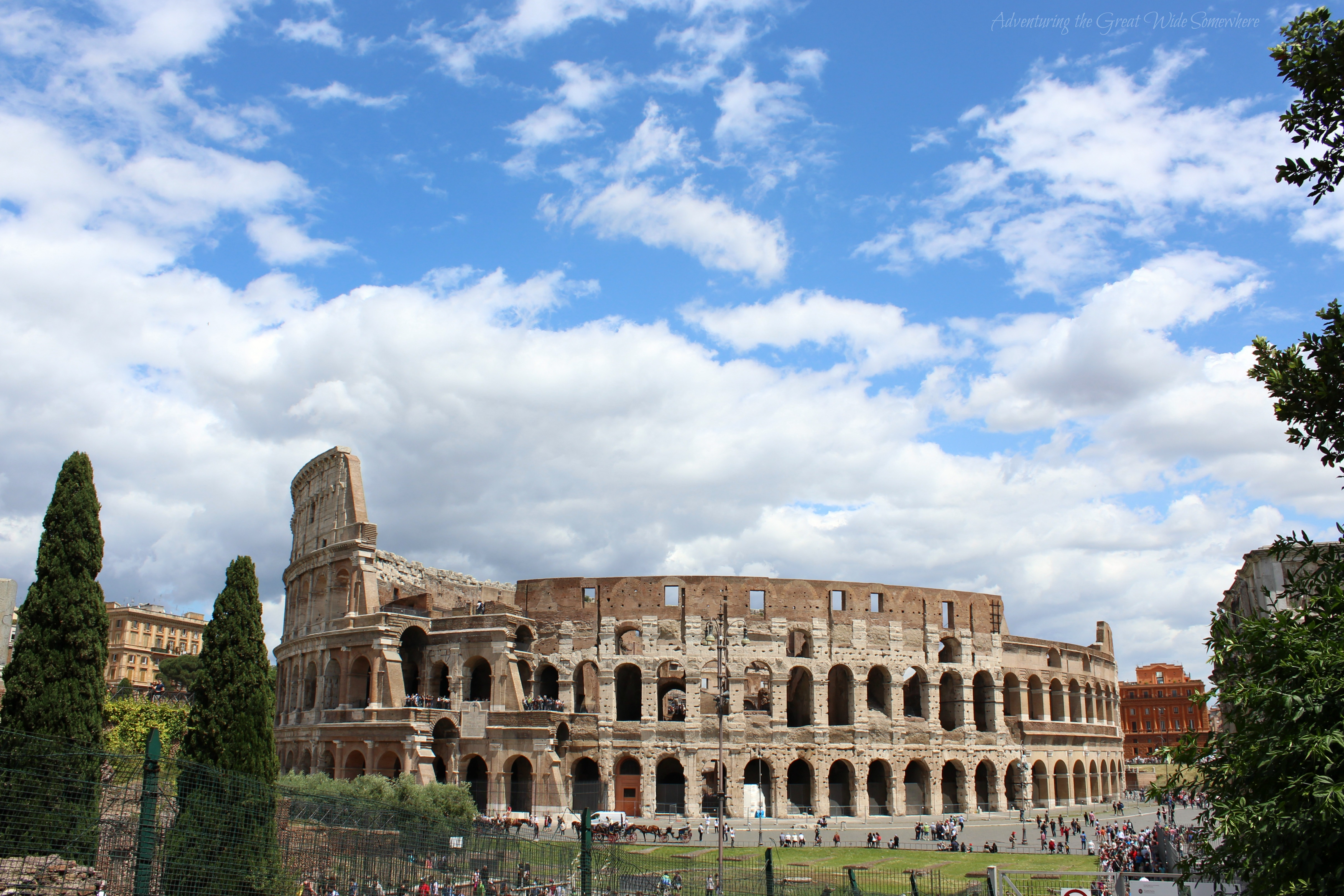 Strolling Around the Colosseum