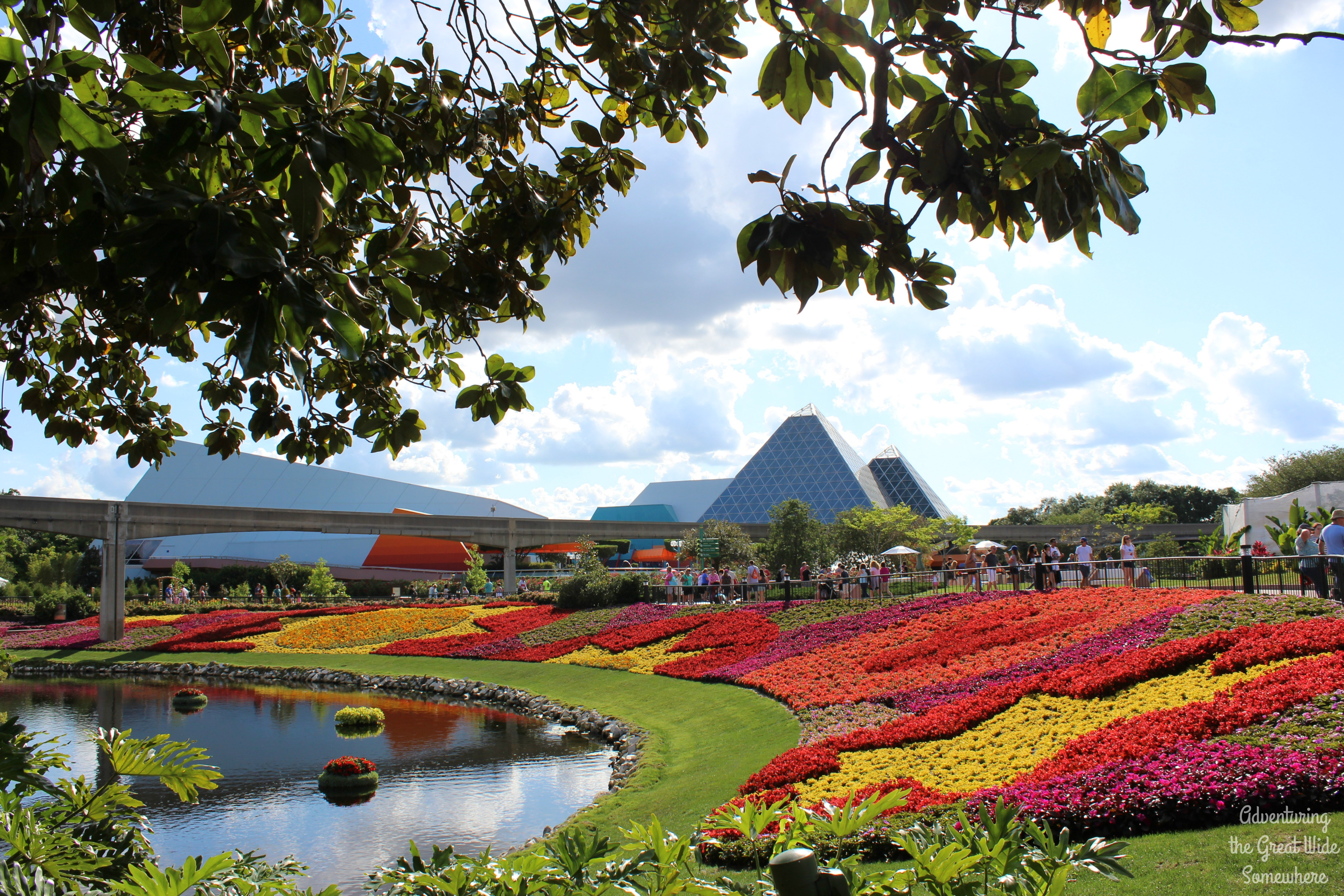 View Of Future World From The Butterfly Garden At The