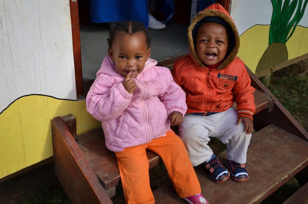 Little Old Couple Kids in Cintsa
