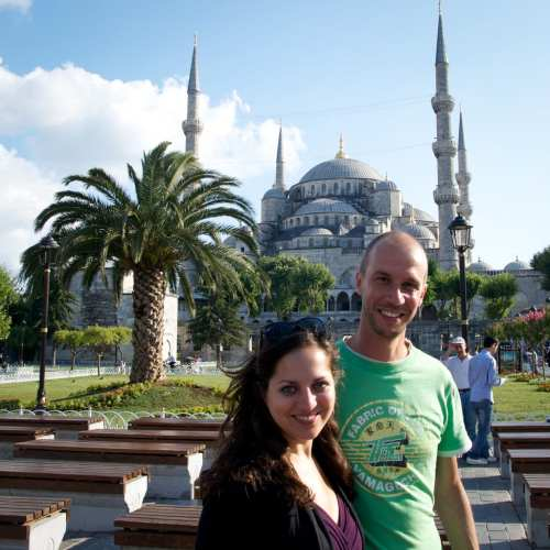 Kate and Mario in Istanbul