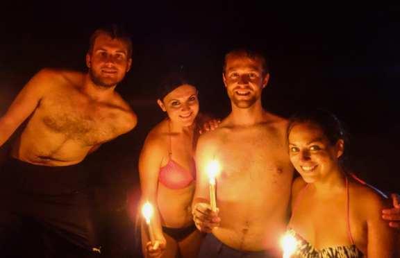 Paul, Erisa, Shaun, and Kate at Semuc Champey Caves