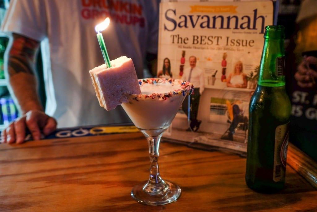 Savannah Birthday Cake Martini