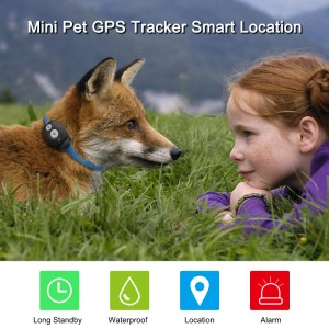 Waterproof Mini GPS Dog Collar Tracker. Locate your Pets at ease. Free APP for iOS Android Web Tracking