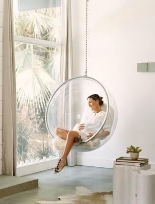 meubelen  Design hangstoel Cocoon Bubble chair