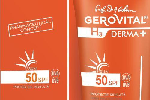 Două noi produse dermatocosmetice, în gama Gerovital H3 DERMA+ SUN