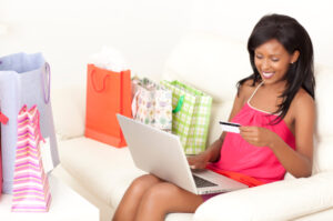 African-American-Woman-Shopping-Online