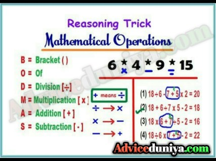 Reasoning tricks in hindi