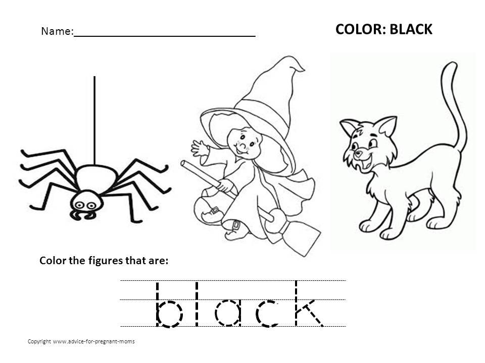 Color Black Worksheets For Preschool. Color. Best Free