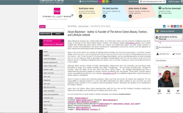 alison blackman profile on beautypress.com