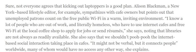 ozy.com snip about cafes