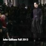 From Paris Fashion Week: John Galliano Fall 2103 Runway Video @PFW #fashion