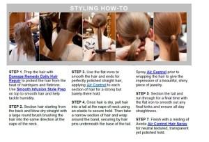 How to Make A Sleek Ponytail ala Stella McCartney and Aveda @aveda @StellaMcCartney #hair #aveda #fashion