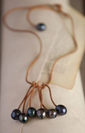 natural life grey pearl necklace