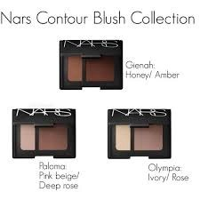 contour blushes from nars