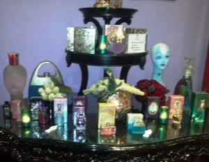 display of anna sui fragrances