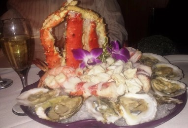 seafood tower from Red steakhouse