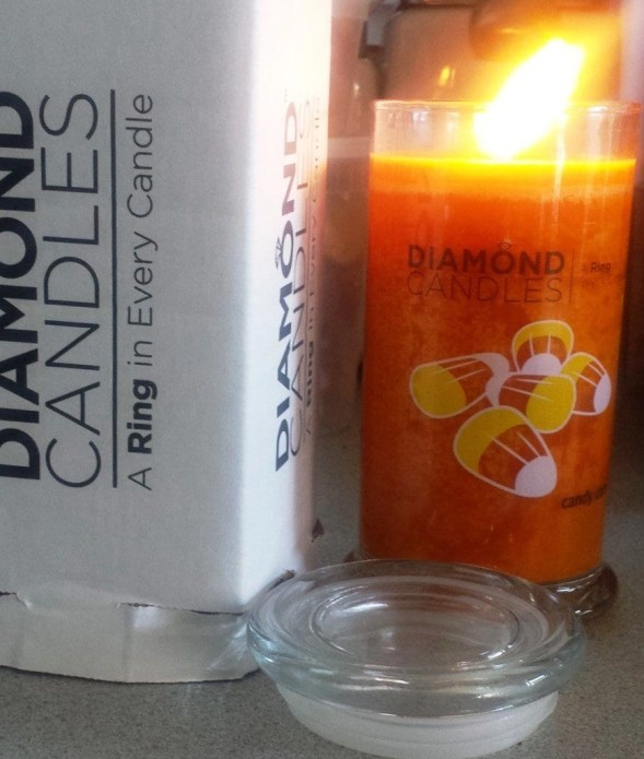 wonder what kind of ring is hidden in my Candy Corn scented Diamond Candle?