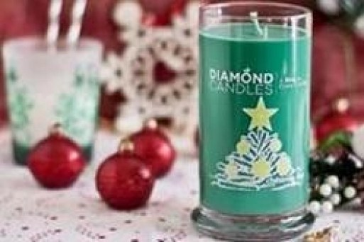 just one of a bunch of holiday diamond candles, the gift that has a gift inside (and myabe even more)!