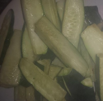 zucchini made in the Philips Airfryer