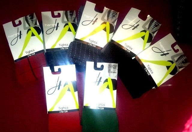 hanes tights $12.00 each or 2 for $20