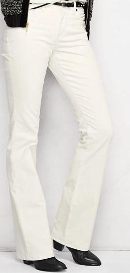 lands end cordouroy boot cut pants