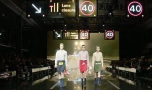 must see video! ANYA HINDMARCH AW15 AT LONDON FASHION WEEK IN ANYA HINDMARCH LFW AW15