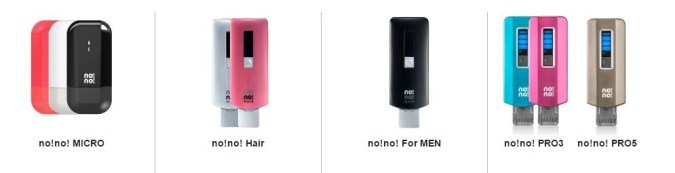a variety of nono hair removal devices