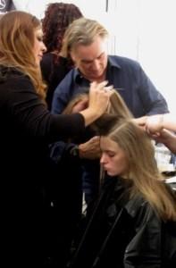 backstage beauty: Rodney Cutler rocks (nearly) effortless hair for @TadashiShoji, @Redken5thAve ,@CutlerSalon, #NYFW, #Cutler4Redken, #RedkenReady