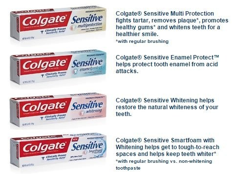 colgate multi protection sensitive toothpastes
