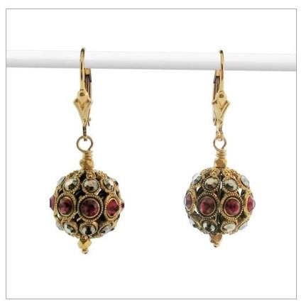 isabelle grace aurora earrings red