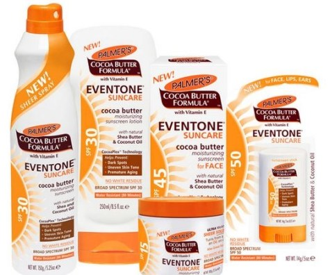 Palmers spf products grouping