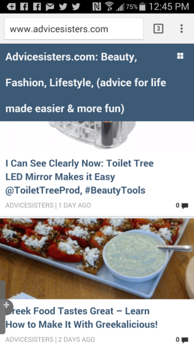 advicesisters mobile screen shot