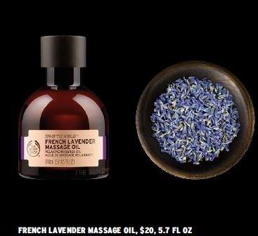 Body Shop French lavender massage oil