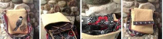 black capped chickadee bag by RosyToes Designs
