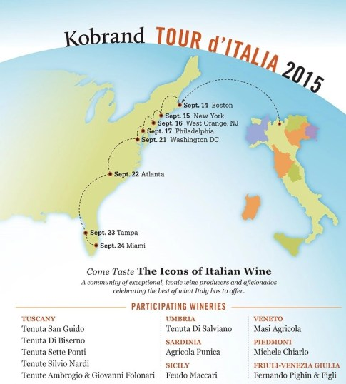 kobrand tour ditalia wine tour invitation