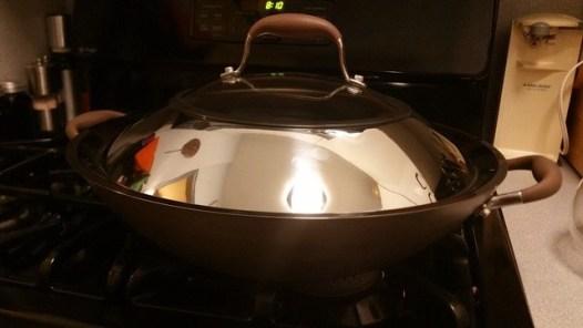 analon wok on my stove