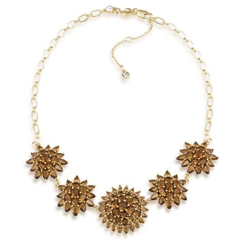 carolee Desesrt Oasis Flower amber gem necklace