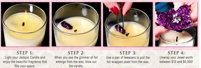 how to get jewelry out of the candle