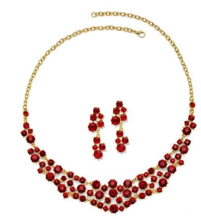 red my lips jewelry set