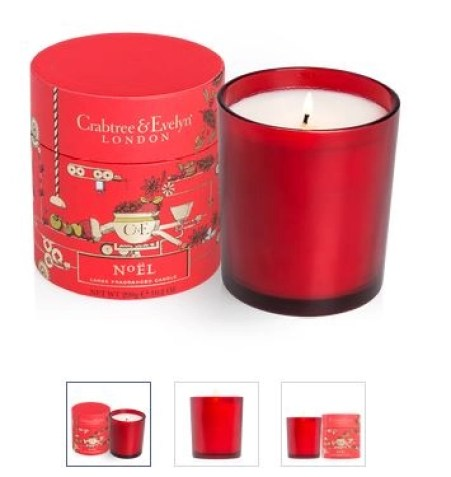 Large Noel candle crabtree andf evelyn