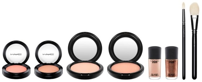 mac lineup of face products for faerie whispers