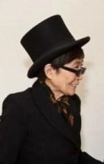 yoko ono in a top hat