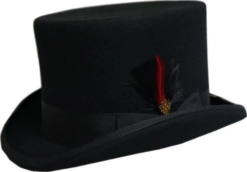 Dorfman Pacific top hat wool