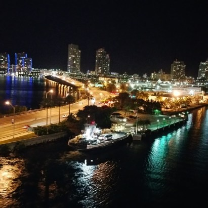 Miami at night is a glittering sight
