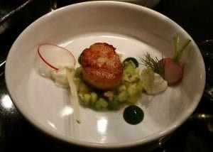 scallop from DOX restaurant
