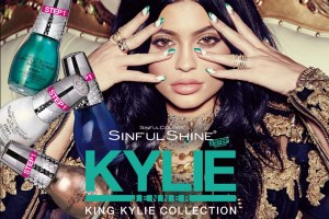 "SO ""Sinful"" for Nails: a limited edition ""Kollaboration"" with Kylie Jenner @SinfulColors_NP,  #SinfulKingKylie"